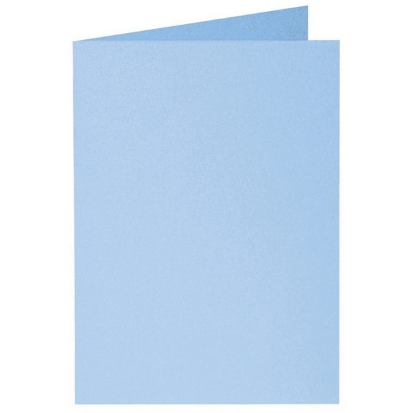 Artoz Perle - 'Water Blue' Card. 297mm x 210mm 250gsm A5 Folded (Long Edge) Card.