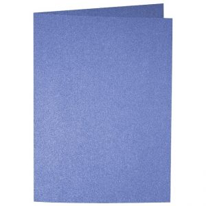Artoz Perle - 'Royal Blue' Card. 297mm x 210mm 250gsm A5 Folded (Long Edge) Card.