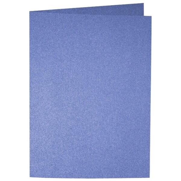 Artoz Perle - 'Royal Blue' Card. 297mm x 210mm 250gsm A5 Folded (Long Edge) Card.