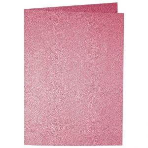 Artoz Perle - 'Red' Card. 297mm x 210mm 250gsm A5 Folded (Long Edge) Card.