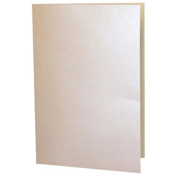 Artoz Perle - 'Peach' Card. 297mm x 210mm 250gsm A5 Folded (Long Edge) Card.