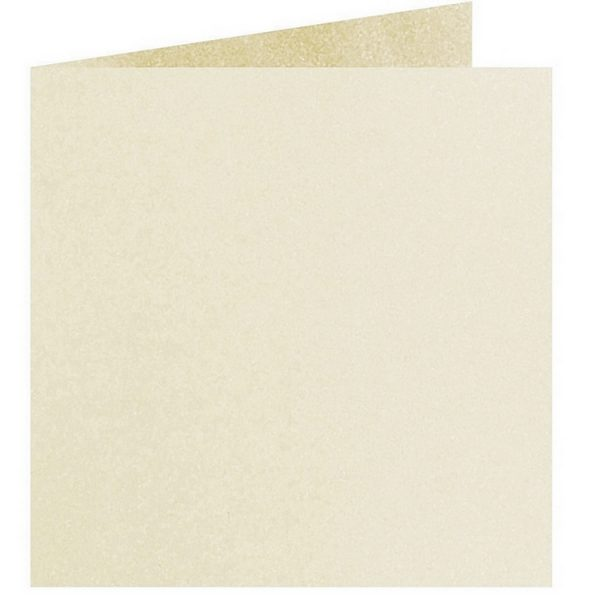 Artoz Perle - 'Ivory' Card. 310mm x 155mm 250gsm Square Folded Card.