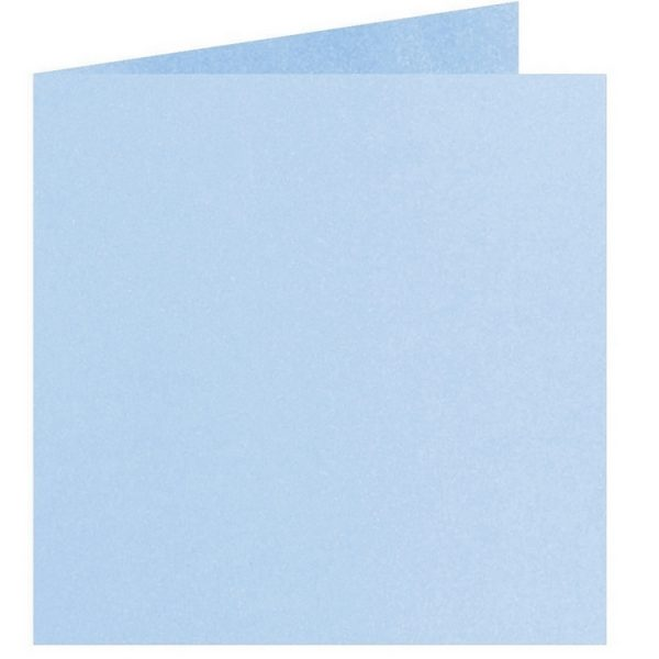 Artoz Perle - 'Water Blue' Card. 310mm x 155mm 250gsm Square Folded Card.