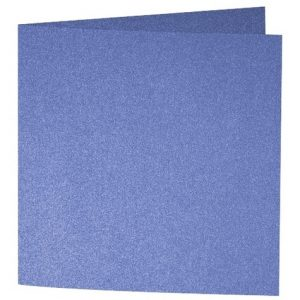 Artoz Perle - 'Royal Blue' Card. 310mm x 155mm 250gsm Square Folded Card.