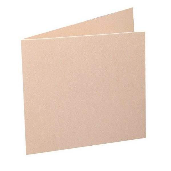 Artoz Perle - 'Peach' Card. 310mm x 155mm 250gsm Square Folded Card.