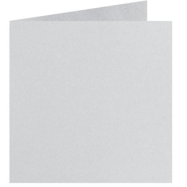 Artoz Perle - 'Silver' Card. 310mm x 155mm 250gsm Square Folded Card.