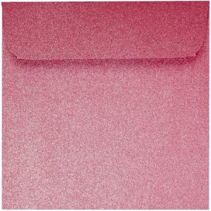 Artoz Perle - 'Red' Envelope. 160mm x 160mm 120gsm Square Peel/Seal Envelope.