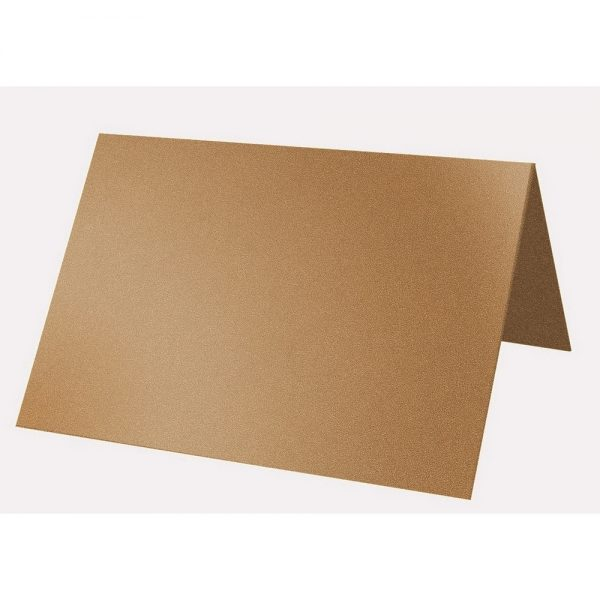 Artoz Klondike - 'Dark Gold' Card. 132mm x 103mm 250gsm A7 Place Card.