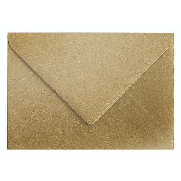 Artoz Klondike - 'Leaf Gold' Envelope. 110mm x 75mm 120gsm C7 Gummed Envelope.