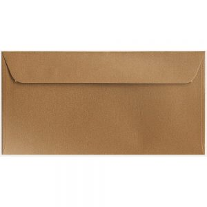 Artoz Klondike - 'Dark Gold' Envelope. 224mm x 114mm 120gsm DL Peel/Seal Envelope.
