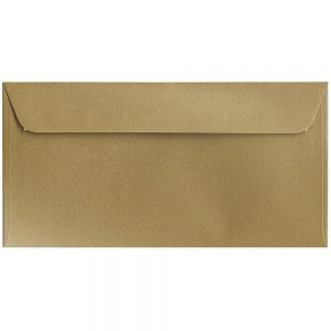 Artoz Klondike - 'Leaf Gold' Envelope. 224mm x 114mm 120gsm DL Peel/Seal Envelope.