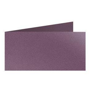 Artoz Klondike - 'Amethyst' Card. 420mm x 105mm 250gsm DL Bi-Fold (Short Edge) Card.
