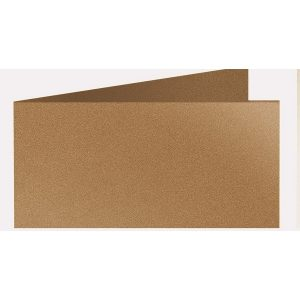 Artoz Klondike - 'Dark Gold' Card. 420mm x 105mm 250gsm DL Bi-Fold (Short Edge) Card.