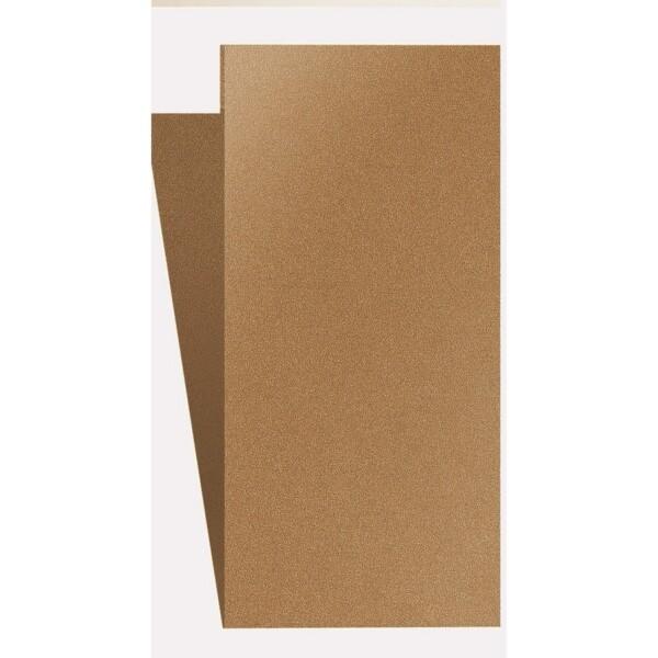 Artoz Klondike - 'Dark Gold' Card. 420mm x 105mm 250gsm DL Bi-Fold (Short Edge) Card.