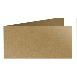 Artoz Klondike - 'Leaf Gold' Card. 420mm x 105mm 250gsm DL Bi-Fold (Short Edge) Card.