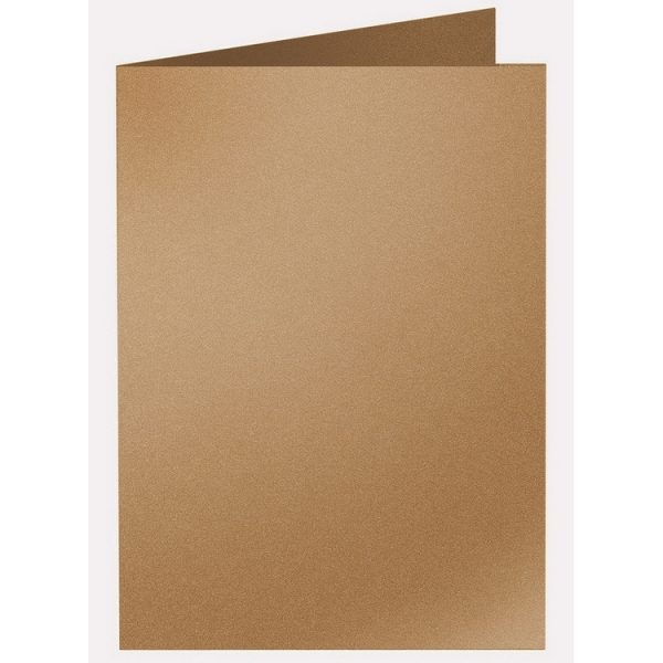 Artoz Klondike - 'Dark Gold' Card. 210mm x 148mm 250gsm A6 Folded (Long Edge) Card.