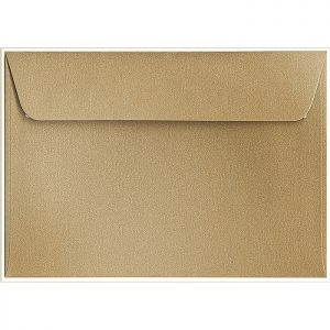 Artoz Klondike - 'Leaf Gold' Envelope. 162mm x 114mm 120gsm C6 Peel/Seal Envelope.