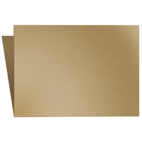 Artoz Klondike - 'Leaf Gold' Card. 240mm x 169mm 250gsm B6 Bi-Fold (Long Edge) Card.