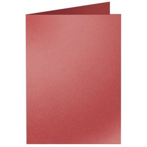 Artoz Klondike - 'Ruby' Card. 240mm x 169mm 250gsm B6 Bi-Fold (Long Edge) Card.