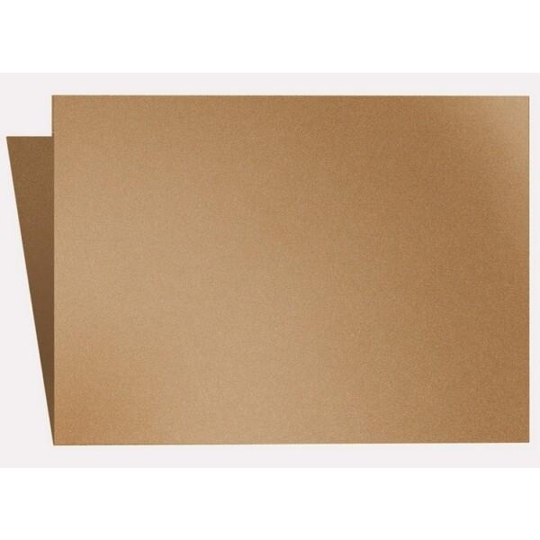 Artoz Klondike - 'Dark Gold' Card. 250mm x 180mm 250gsm E6 Bi-Fold (Long Edge) Card.