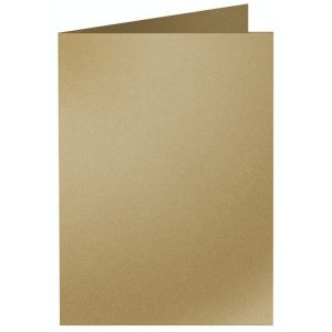 Artoz Klondike - 'Leaf Gold' Card. 250mm x 180mm 250gsm E6 Bi-Fold (Long Edge) Card.