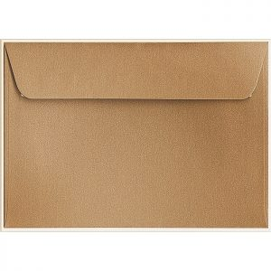 Artoz Klondike - 'Dark Gold' Envelope. 229mm x 162mm 120gsm C5 Peel/Seal Envelope.