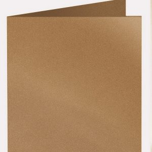 Artoz Klondike - 'Dark Gold' Card. 310mm x 155mm 250gsm Square Folded Card.