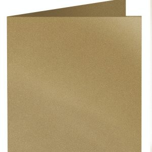 Artoz Klondike - 'Leaf Gold' Card. 310mm x 155mm 250gsm Square Folded Card.
