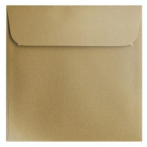 Artoz Klondike - 'Leaf Gold' Envelope. 160mm x 160mm 120gsm Square Peel/Seal Envelope.