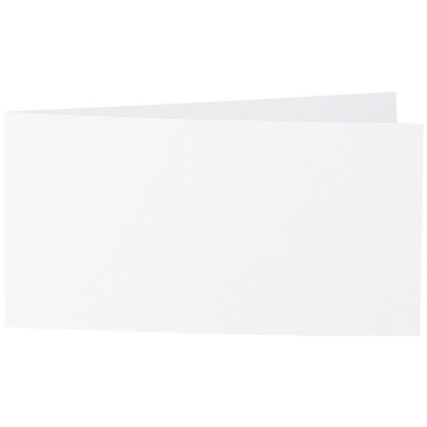 Artoz Zand - 'White' Card. 420mm x 105mm 270gsm DL Bi-Fold (Short Edge) Card.