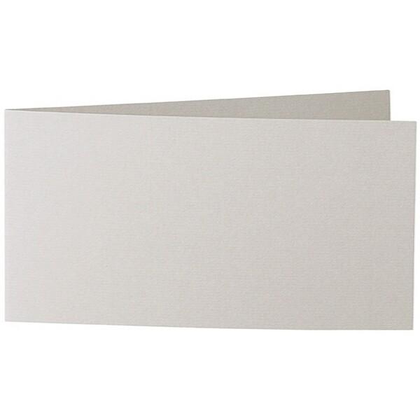 Artoz Zand - 'Grey' Card. 420mm x 105mm 270gsm DL Bi-Fold (Short Edge) Card.