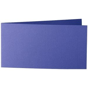 Artoz Zand - 'Indigo' Card. 420mm x 105mm 270gsm DL Bi-Fold (Short Edge) Card.