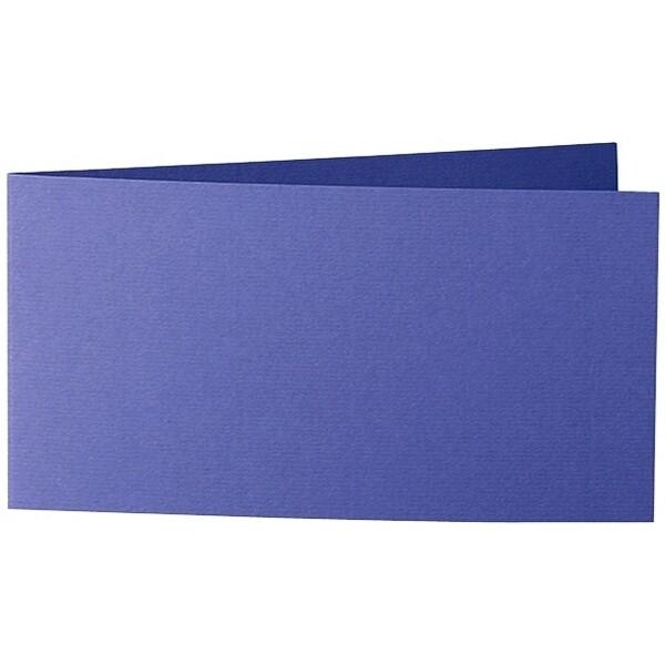 Artoz Zand - 'Indigo' Card. 420mm x 105mm 270gsm DL Bi-Fold (Short Edge) Card.