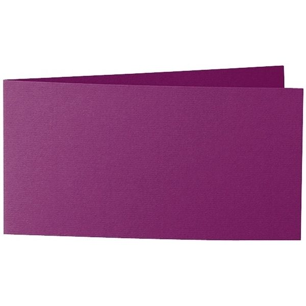 Artoz Zand - 'Purple' Card. 420mm x 105mm 270gsm DL Bi-Fold (Short Edge) Card.
