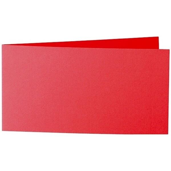 Artoz Zand - 'Red' Card. 420mm x 105mm 270gsm DL Bi-Fold (Short Edge) Card.