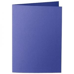 Artoz Zand - 'Indigo' Card. 210mm x 148mm 270gsm A6 Folded (Long Edge) Card.