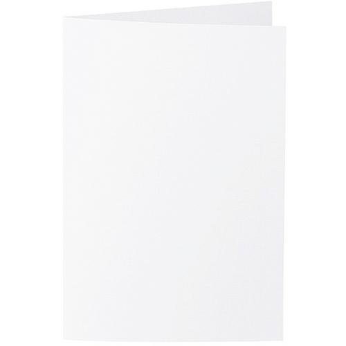 Artoz Zand - 'White' Card. 240mm x 169mm 270gsm B6 Bi-Fold (Long Edge) Card.