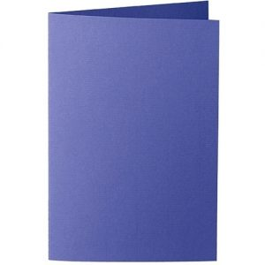 Artoz Zand - 'Indigo' Card. 240mm x 169mm 270gsm B6 Bi-Fold (Long Edge) Card.