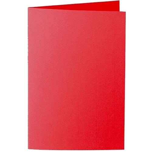 Artoz Zand - 'Red' Card. 240mm x 169mm 270gsm B6 Bi-Fold (Long Edge) Card.