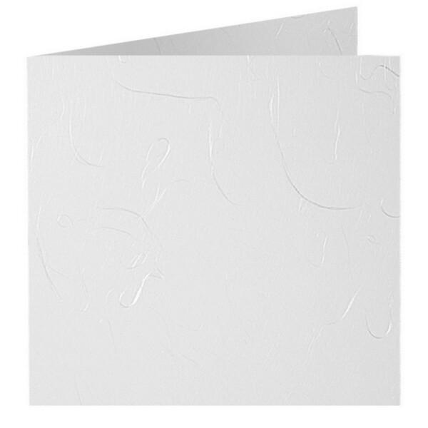 Artoz Mayumi - 'White' Card. 420mm x 105mm 210gsm DL Bi-Fold (Short Edge) Card.