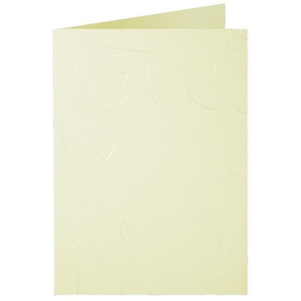 Artoz Mayumi - 'Yellow' Card. 210mm x 148mm 210gsm A6 Folded (Long Edge) Card.