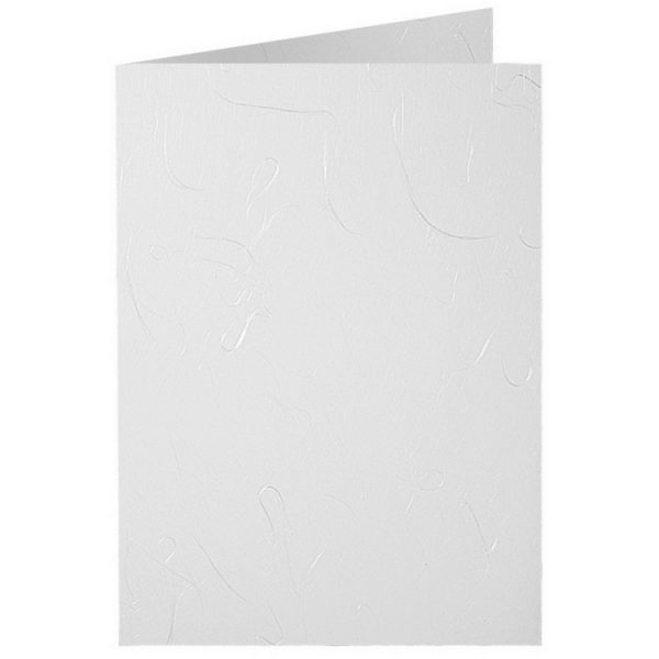 Artoz Mayumi - 'White' Card. 297mm x 210mm 210gsm A5 Folded (Long Edge) Card.