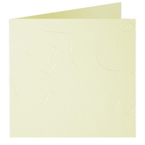 Artoz Mayumi - 'Yellow' Card. 310mm x 155mm 210gsm Square Folded Card.