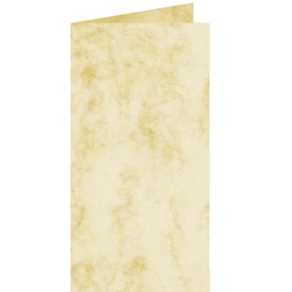 Artoz Antiqua - 'Cream' Card. 210mm x 210mm 200gsm DL Bi-Fold (Long Edge) Card.