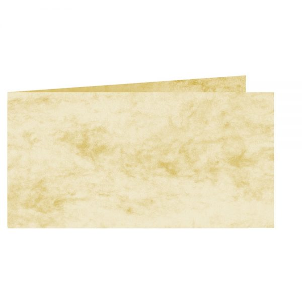 Artoz Antiqua - 'Cream' Card. 420mm x 105mm 200gsm DL Bi-Fold (Short Edge) Card.