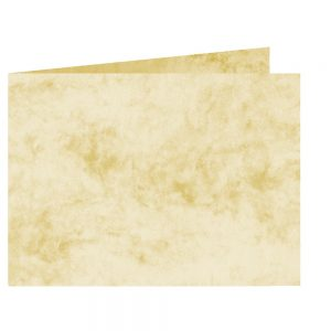 Artoz Antiqua - 'Cream' Card. 338mm x 120mm 200gsm B6 Bi-Fold (Short Edge) Card.