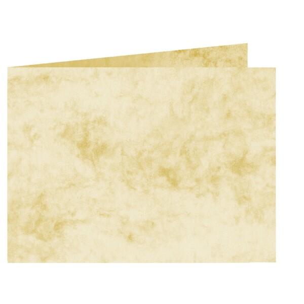 Artoz Antiqua - 'Cream' Card. 338mm x 120mm 200gsm B6 Bi-Fold (Short Edge) Card.