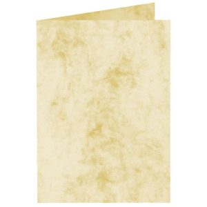 Artoz Antiqua - 'Cream' Card. 250mm x 180mm 200gsm E6 Bi-Fold (Long Edge) Card.