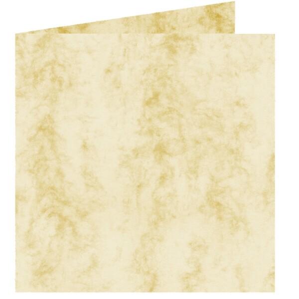 Artoz Antiqua - 'Cream' Card. 260mm x 130mm 200gsm Small Square Folded Card.